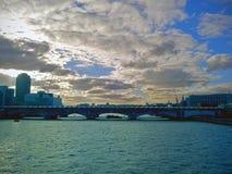 伦敦泰晤士河视图 库存图片
