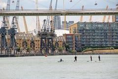 伦敦港区地平线 免版税库存照片