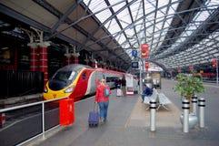 伦敦火车站培训 库存图片