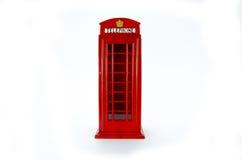 伦敦电话亭模型 免版税库存照片