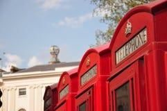 伦敦电话亭 图库摄影