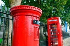 伦敦电话亭 库存图片