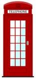 伦敦电话箱子,例证 库存图片
