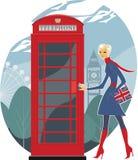伦敦电话 免版税库存照片