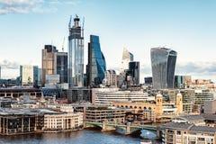 伦敦的商业中心 免版税图库摄影