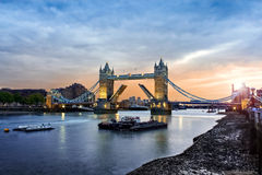 伦敦的塔桥梁,英国 免版税库存照片