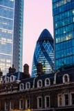 伦敦的嫩黄瓜 免版税库存照片