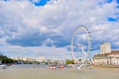 伦敦的眼睛 库存图片