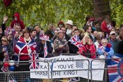 伦敦皇家婚礼 库存图片