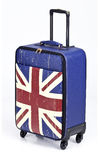 伦敦皮革行李 免版税库存图片