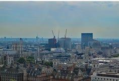 伦敦看法如被看见从伦敦眼睛 免版税库存照片