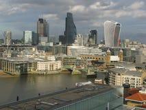 伦敦看法从现代的塔特,英国的 免版税库存照片