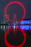 伦敦眼是最高的弗累斯大转轮欧洲 免版税库存照片