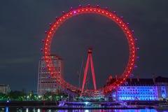 伦敦眼是最高的弗累斯大转轮欧洲 库存照片