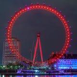 伦敦眼是最高的弗累斯大转轮欧洲 免版税库存图片