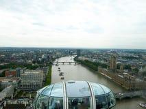 从伦敦眼的一个看法 库存图片