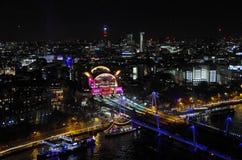 从伦敦眼的查令十字驻地 免版税库存图片