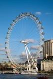 伦敦眼的看法在2015年12月9日的伦敦 库存图片