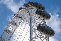 伦敦眼的看法在2015年12月9日的伦敦 免版税图库摄影