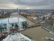 伦敦眼睛吸引力 免版税图库摄影