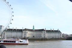 伦敦眼睛在伦敦在英国 向量例证