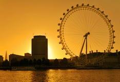 伦敦眼睛地平线 图库摄影
