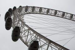 伦敦眼睛的一半 库存图片