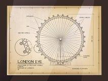 伦敦眼睛视图 向量例证