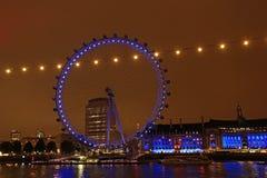 伦敦眼睛,伦敦 免版税库存照片