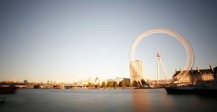 伦敦眼睛,千年轮子 库存图片