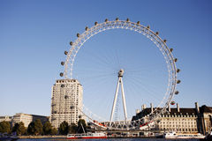 伦敦眼睛,千年轮子 免版税库存照片