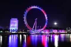 伦敦眼睛2012年女王/王后的周年纪念 免版税库存照片
