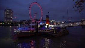 伦敦眼睛timelapse 股票录像