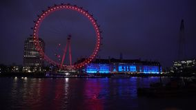 伦敦眼睛timelapse 4k 股票视频