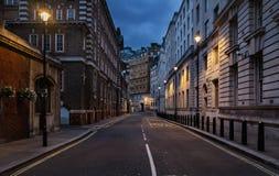 伦敦空的街道  免版税图库摄影