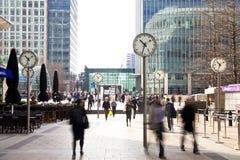 伦敦管,金丝雀码头驻地, 免版税库存照片