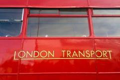 伦敦红色公共汽车 库存照片