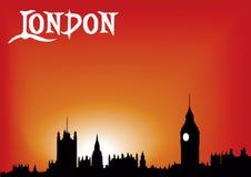 伦敦红色天空 向量例证