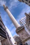 伦敦纪念碑 库存照片