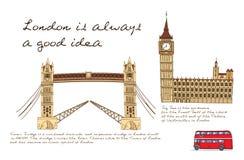 伦敦线海报 皇族释放例证