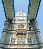 伦敦美丽的塔桥梁的特写镜头视图  图库摄影