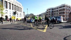 伦敦自行车通勤者 股票录像