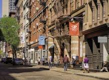 伦敦苏豪区街,更低的曼哈顿,纽约 免版税图库摄影