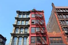 伦敦苏豪区,纽约 库存图片