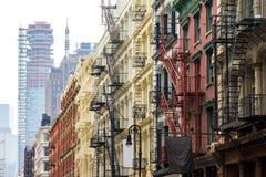 伦敦苏豪区邻里在曼哈顿纽约 库存图片