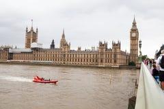 伦敦英国 伦敦全景从伦敦眼的 图库摄影