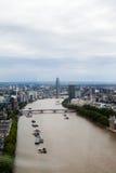 伦敦英国 伦敦全景从伦敦眼的 免版税库存照片