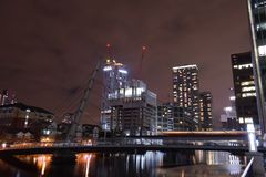 伦敦英国02/12/2017 欧洲银行领导城市 图库摄影