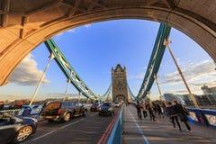 伦敦著名塔桥梁  库存图片