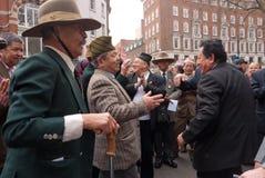 伦敦行军拒付tuc英国 库存图片